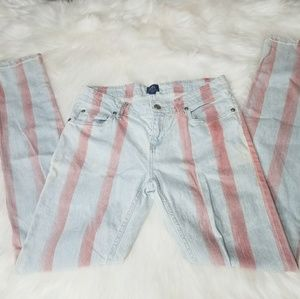 AI Authentic Icon Red Stripe Jeans Faded Light 28